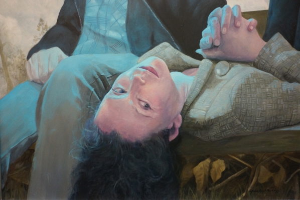 "Detail of ""Lie With Me"" by JeanPaul Mallozzi."